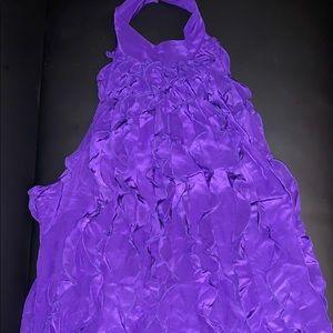 bcbgmaxazria sleeveless purple blouse